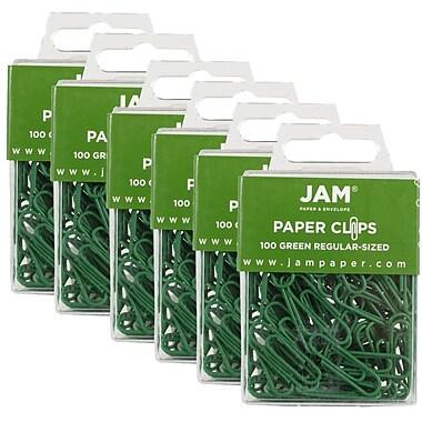Jam PaperMD – Trombones de taille standard, vert, 600/boîte