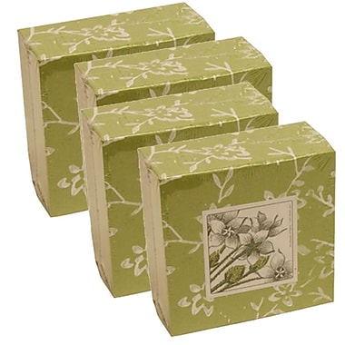 JAM Paper® Paper Pads, 4 x 4 Cube, Green, 4/Pack (2191815322g)