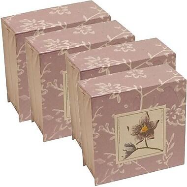 JAM Paper® Paper Pads, 4 x 4 Cube, Purple, 4/Pack (2191815324g)