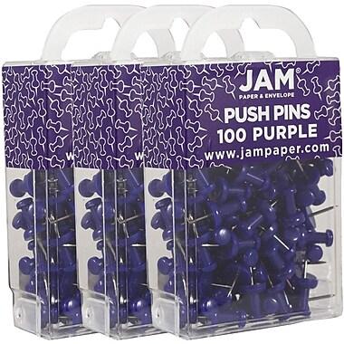 Jam PaperMD – Punaises en métal, violet, 300/paquet