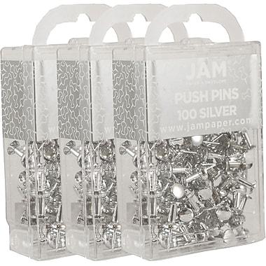 Jam PaperMD – Punaises en métal, argenté brillant, 300/paquet