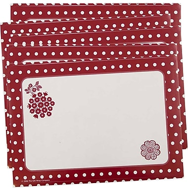 JAM Paper® Christmas Holiday To From Labels, 5 x 7, Red Flower, 5 packs of 8 (2238219092g)