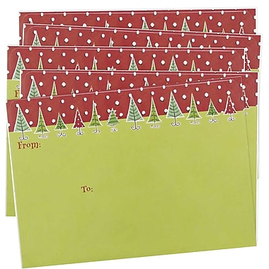 JAM Paper® Christmas Holiday To From Labels, 5 x 7, Green, 5 packs of 8 (2238219093g)