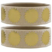 JAM Paper® Round Circle Label Wafer Seals with Serrated Edges, 3/4, Gold, 2 packs of 100 (2263765g)