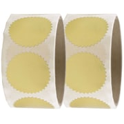 JAM Paper® Round Circle Label Wafer Seals with Serrated Edges, 1 1/2, Gold, 2 packs of 100 (2263770g)