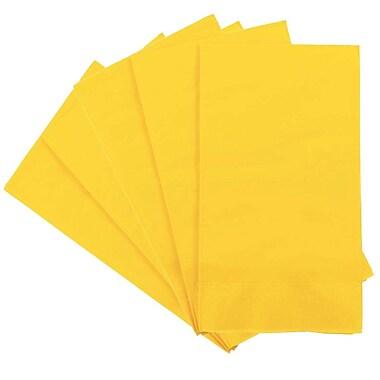 JAM Paper® – Serviettes en papier rectangulaires pour fêtes/invités, 8 po x 4 1/2 po, jaune, paq./80