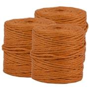 JAM Paper® Kraft Twine, 73 Yards, Orange, 3/Pack (267820979g)