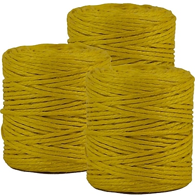 JAM Paper® Kraft Twine, 73 Yards, Yellow, 3/Pack (267820981g)