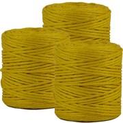 JAM Paper® Kraft Twine, 73 Yards, Yellow, 3/Pack (267820981g)