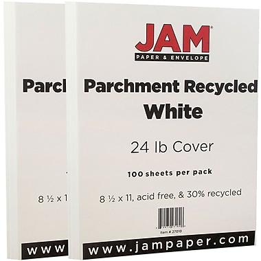 Jam PaperMD 24 lb Jam PaperMD – Papier parchemin recyclé, 8 1/2 x 11 po, blanc, 200 paq.