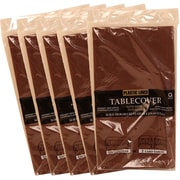 JAM Paper® Paper Table Covers, Chocolate Brown Table Cloths, 5/Pack (291323330g)