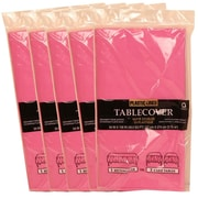 JAM Paper® Paper Table Covers, Fuchsia Pink Table Cloths, 5/Pack (291323331g)