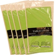 JAM Paper® Paper Table Covers, Lime Green Table Cloths, 5/Pack (291323333g)