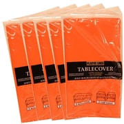 JAM Paper® Paper Table Covers, Orange Table Cloths, 5/Pack (291323334g)