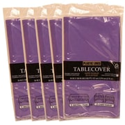 JAM Paper® Paper Table Covers, Purple Table Cloths, 5/Pack (291323335g)