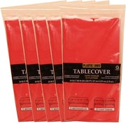 JAM Paper® Paper Table Covers, Red Table Cloths, 5/Pack (291323336g)