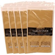 JAM Paper® Paper Table Covers, Gold Table Cloths, 5/Pack (291325369g)