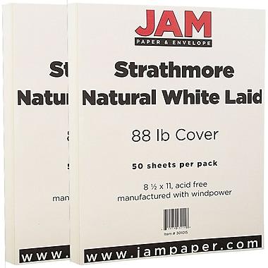 JAM PaperMD – Papier couverture cartonné recyclé, sulfurisé, 8 1/2 x 11 po, blanc naturel, 100 feuilles/paquet