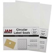 JAM Paper® Round Circle Label Sticker Seals, 1 2/3 inch diameter, White, 2 packs of 120 (3147612193g)