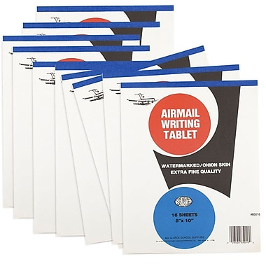 JAM Paper® Paper Pad, 8 x 10, Airmail Onion Skin, 10/Pack (3189815217g)