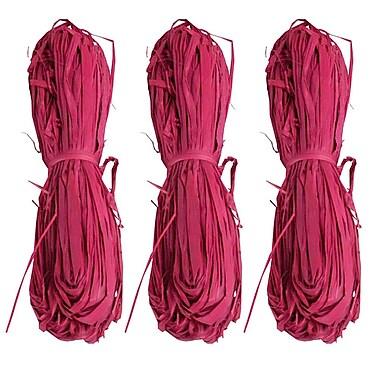 JAM Paper® Wraffia Ribbon Bundle, 1.7 oz, Hot Pink, 3/Pack (3190215233g)