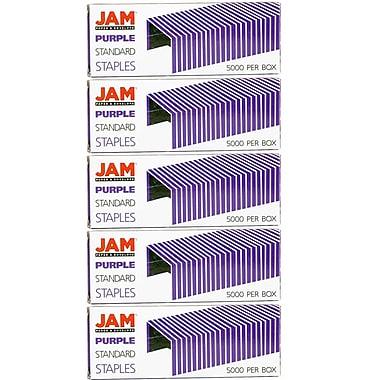 JAM PaperMD – Agrafes de taille standard, violet, paquet de 5
