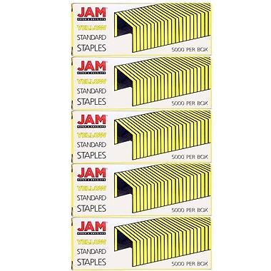 JAM PaperMD – Agrafes de taille standard, bleu, paquet de 5