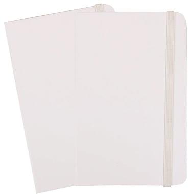 JAM PaperMD – Cahiers de notes à couverture rigide avec fermeture à bande élastique, 3 3/4 x 5 5/8 po, rouge, 2/pqt