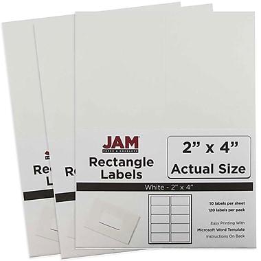 JAM Paper® Mailing Address Labels, 2 x 4, White, 3 packs of 120 (4062901g)