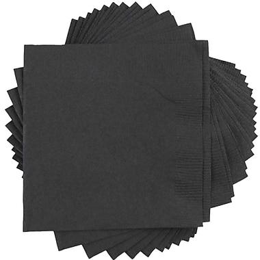 JAM PaperMD – Petites serviettes à boissons, 5 x 5 (po), noir, 500/paquet