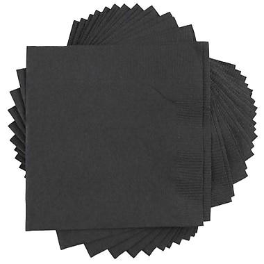 JAM Paper® Square Lunch Napkins, Medium, 6.5 x 6.5, Black, 10 packs of 50 (6255620716g)