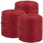 JAM Paper® Kraft Twine, 73 Yards, Red, 3/Pack (67821706g)