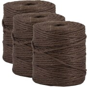 JAM Paper® Kraft Twine, 73 Yards, Chocolate Brown, 3/Pack (67821708g)