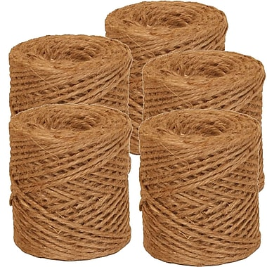 JAM Paper® Natural Jute Kraft Twine, 73 Yards, Brown, 5/Pack (6785142g)