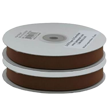 JAM Paper® Grosgrain Ribbon, .63 inch wide x 25 Yards, Chocolate Brown, 2/Pack (7896738g)