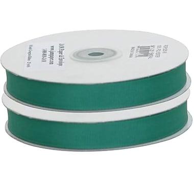 JAM Paper® Grosgrain Ribbon, .63 inch wide x 25 Yards, Green, 2/Pack (7896739g)
