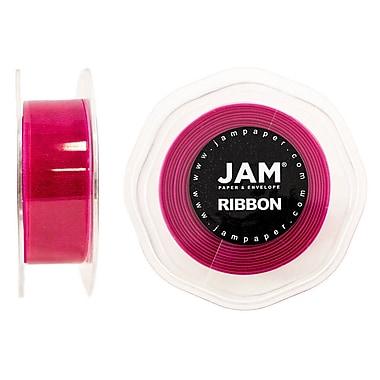 JAM Paper® Sheer Organza Ribbon, .88 Inch Wide x 25 Yards, Shocking Pink, 2/Pack (807SHshpi25g)