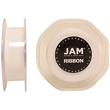 JAM Paper® Sheer Organza Ribbon, .88 Inch Wide x 25 Yards, White, 2/Pack (807SHwh25g)