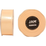 JAM Paper® Double Faced Satin Ribbon, 1.5 Inch Wide x 25 Yards, Ivory, 2/Pack (808SAiv25g)