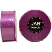 JAM Paper® Double Faced Satin Ribbon, 1.5 Inch Wide x 25 Yards, Purple, 2/Pack (808SApu25g)