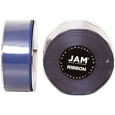 JAM Paper® Double Faced Satin Ribbon, 1.5 Inch Wide x 25 Yards, Royal Blue, 2/Pack (808SArobu25g)