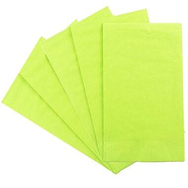 JAM Paper® – Serviettes en papier rectangulaires pour fêtes/invités, 8 po x 4 1/2 po, vert lime, paq./80