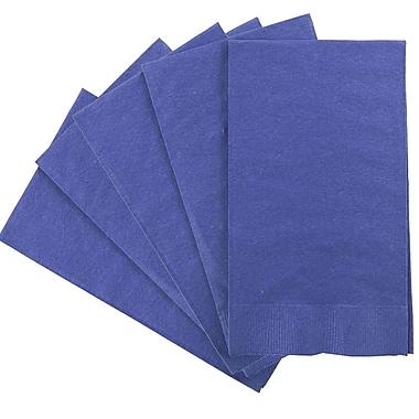 JAM Paper® – Serviettes en papier rectangulaires pour fêtes/invités, 8 po x 4 1/2 po, bleu, paq./80