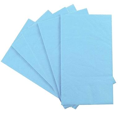 JAM Paper® – Serviettes en papier rectangulaires pour fêtes/invités, 8 po x 4 1/2 po, aqua, paq./80