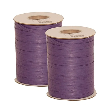 JAM Paper® Wraffia Ribbon, 200 Yards per spool, Purple, 2/Pack (CO23527g)