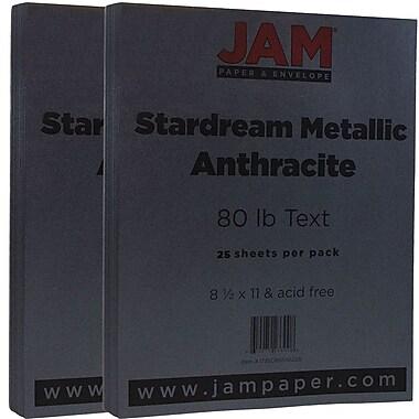 Jam PaperMD – 32 lb, papier Stardream, 8 1/2 x 11 po, anthracite, paquet de 50 feuilles