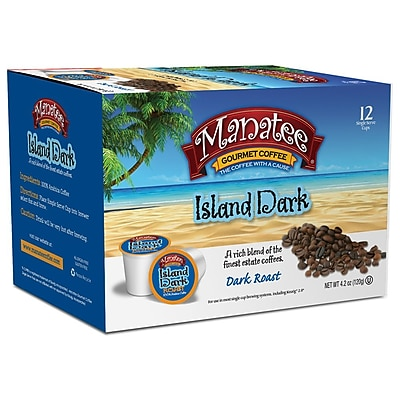 Manatee Island Dark 12ct Single Cups 2400199