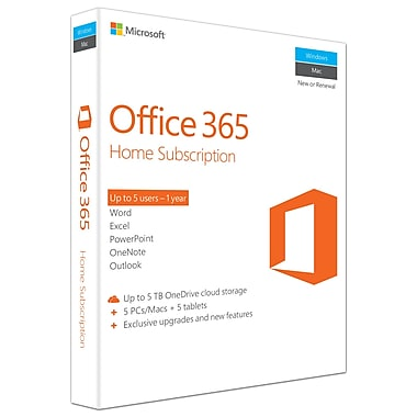 Microsoft Office 365 Home, 1-year Subscription, English