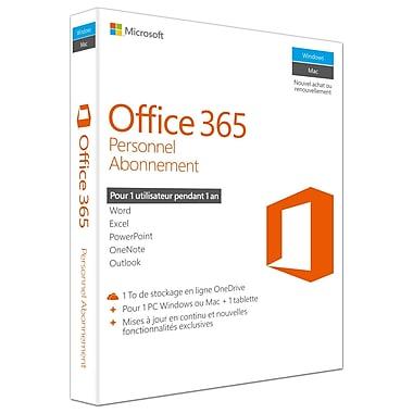 Microsoft – Office 365 Personnel, abonnement d'un an, français