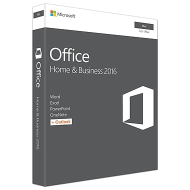 Microsoft Office Home & Business 2016 for Mac, 1 Mac, English